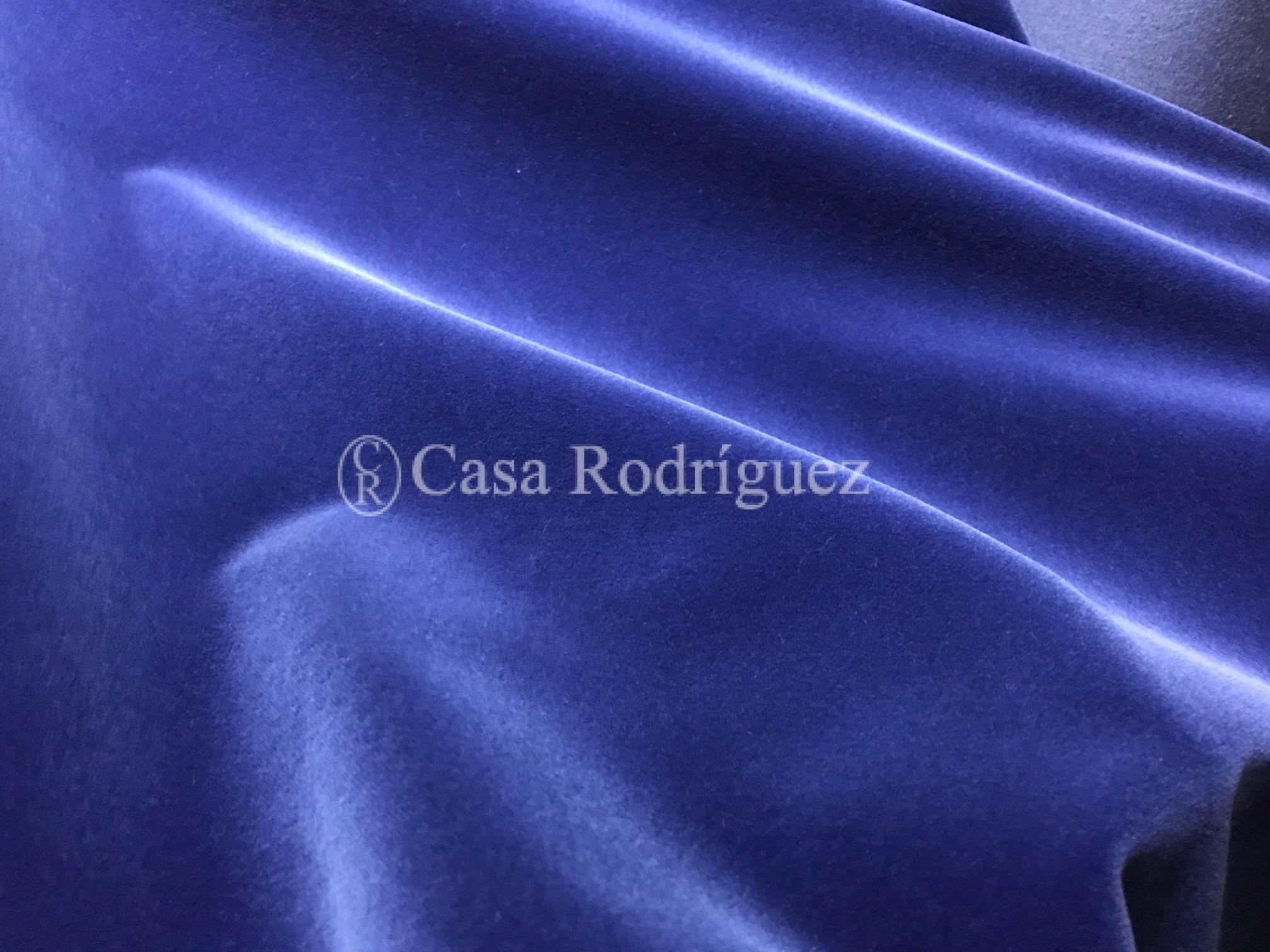 Terciopelo de algodón azul