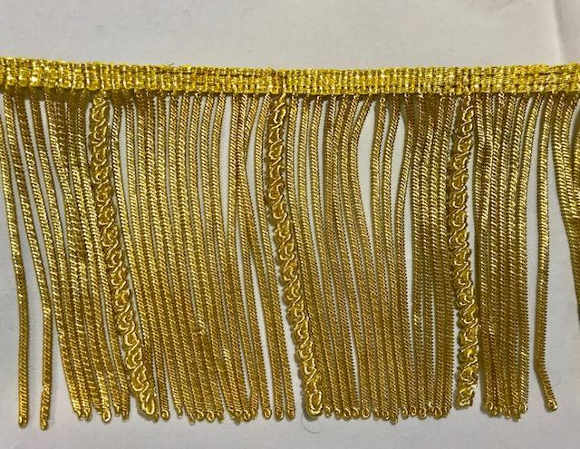 Fleco oro canutillo y canelón (10cms)
