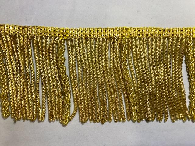 Fleco de canutillo y canelón de oro (70mm)