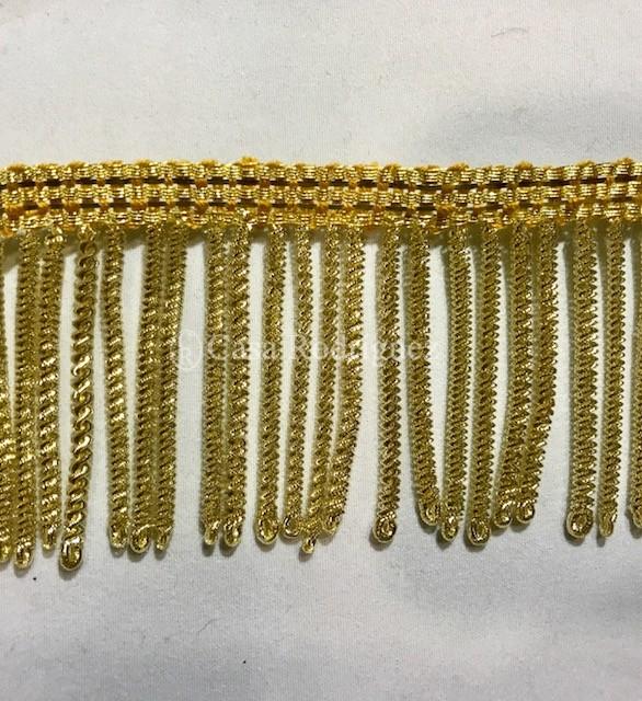 Fleco de canutillo en oro (50mm)