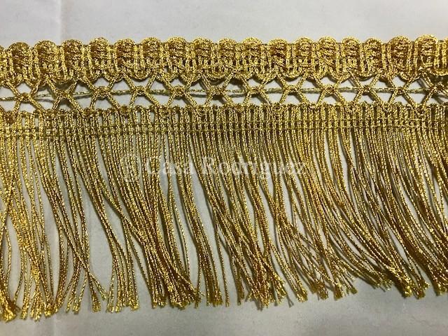 Fleco dorado con enrejado (90mm)
