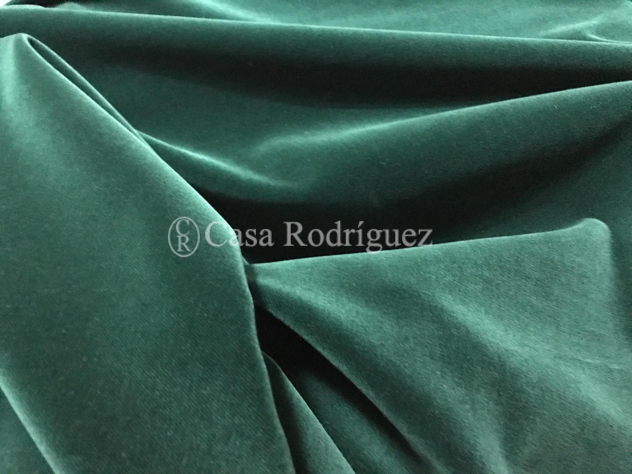 Terciopelo de algodón verde oscuro