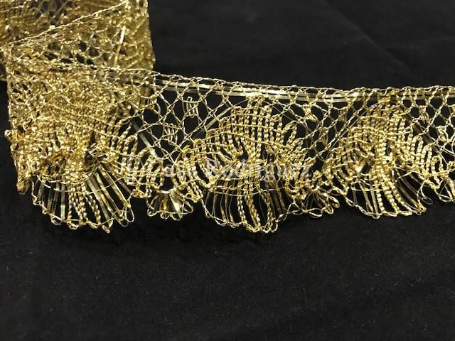 Encaje de oro entrefino (50mm)