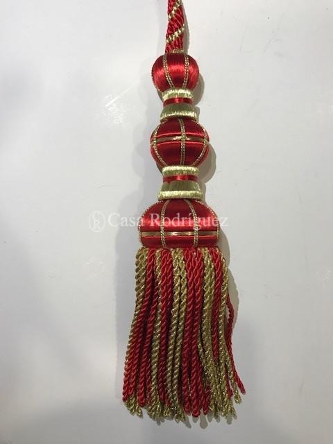 Borla dorada y roja (30cms)