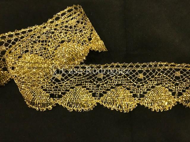 Encaje dorado conchas (5cms)
