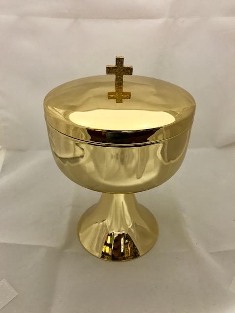 Copón dorado brillo (30cms.)