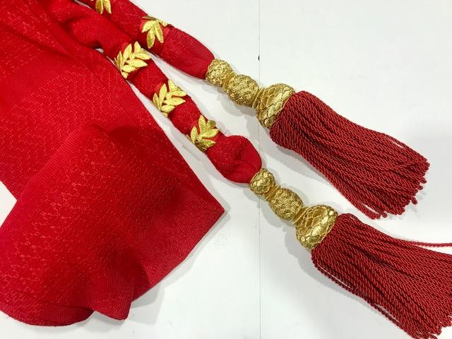 Fajín de Teniente General con borlas oro y rojo