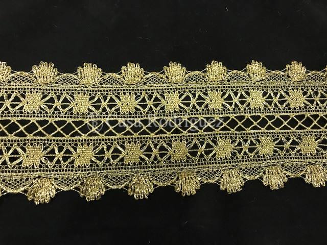 Encaje entredós dorado (12cms)