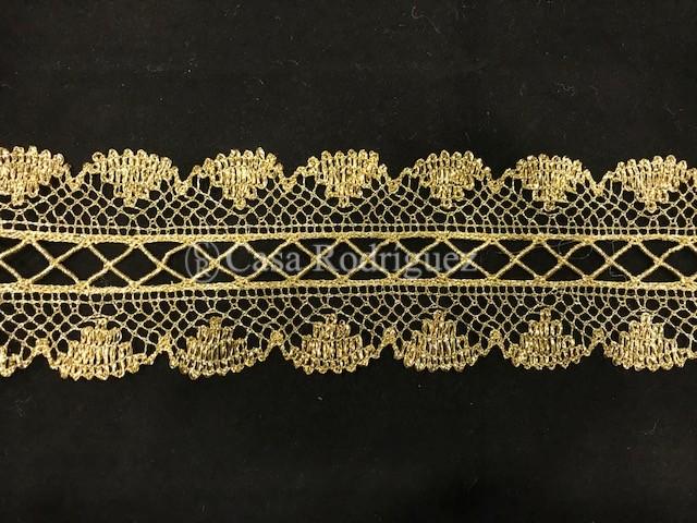 Encaje entredós dorado (7cms)