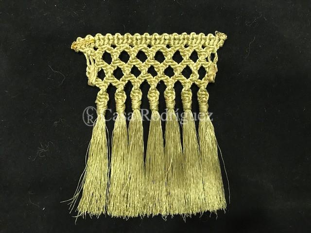 Fleco oro macramé (10cms)