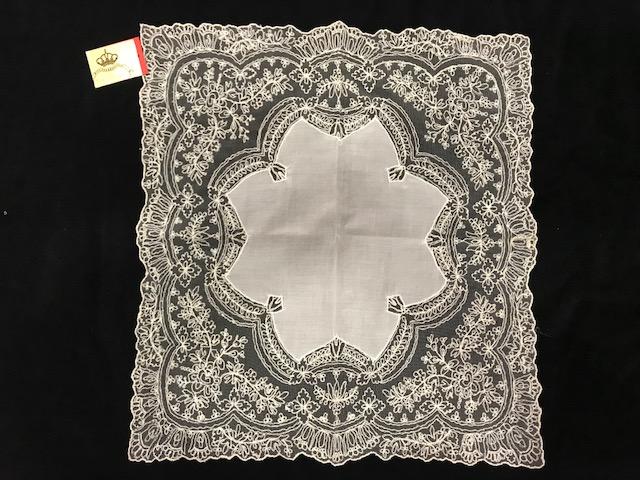 Pañuelo de tul cristal geométrico (040 x 0,40)