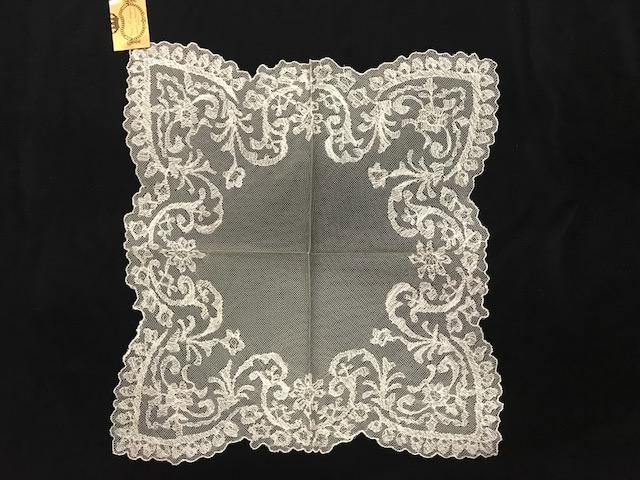 Pañuelo de tul cristal puntas blanco (0,40 x 0,40)