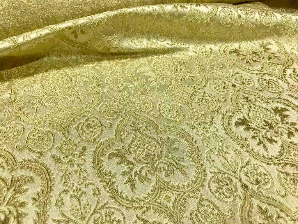Brocado blanco y oro caruso casa rodriguez - Outlet de telas en madrid ...