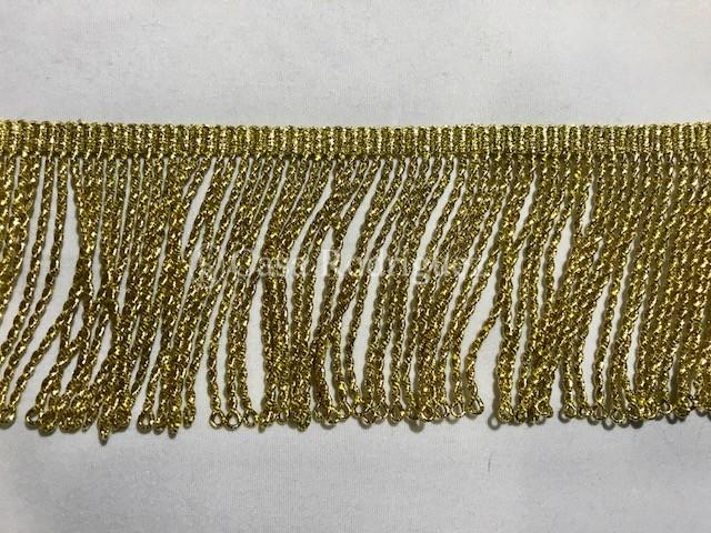 Fleco torcido en dorado de metal (50mm)