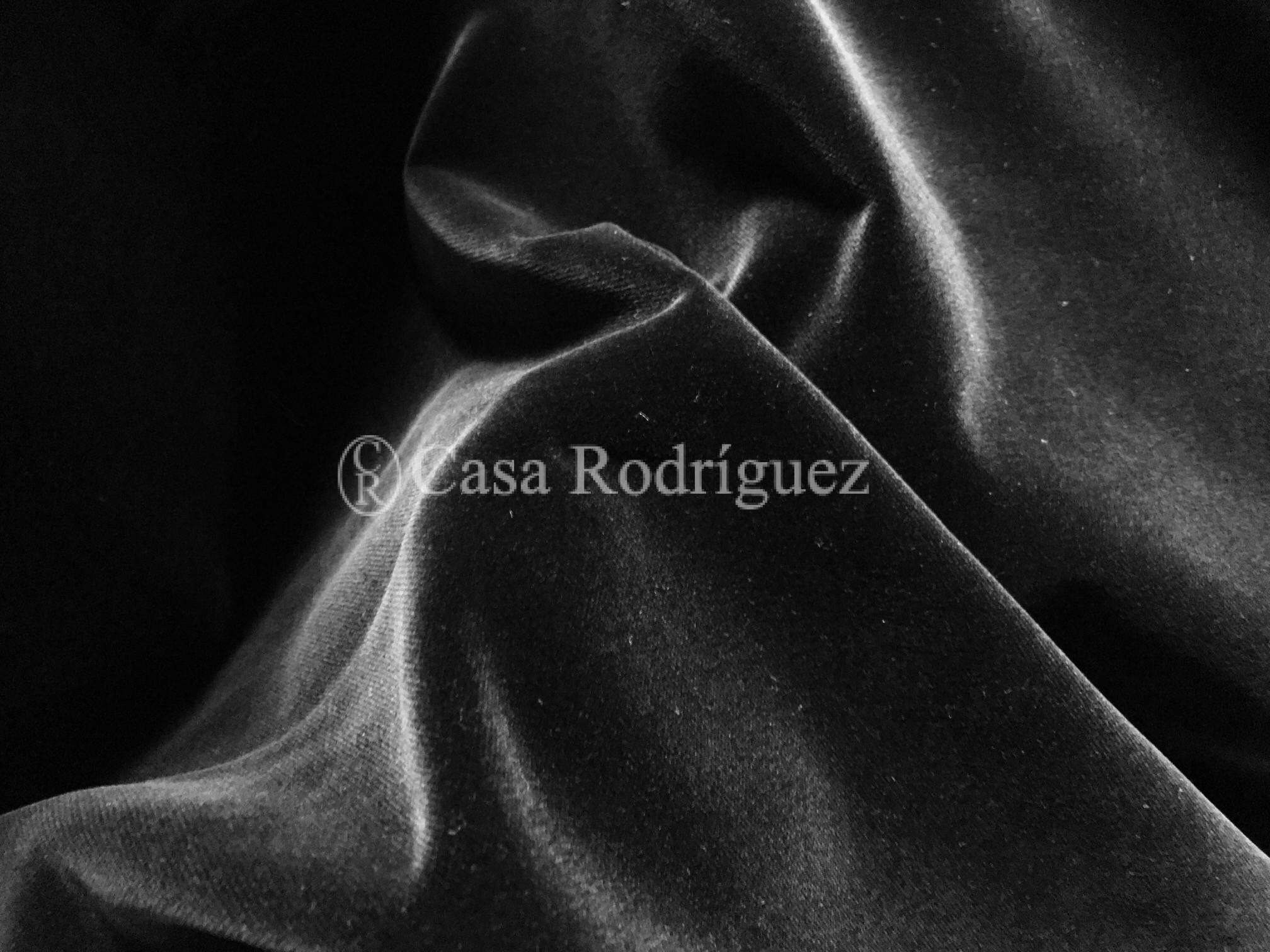Terciopelo de algodón negro