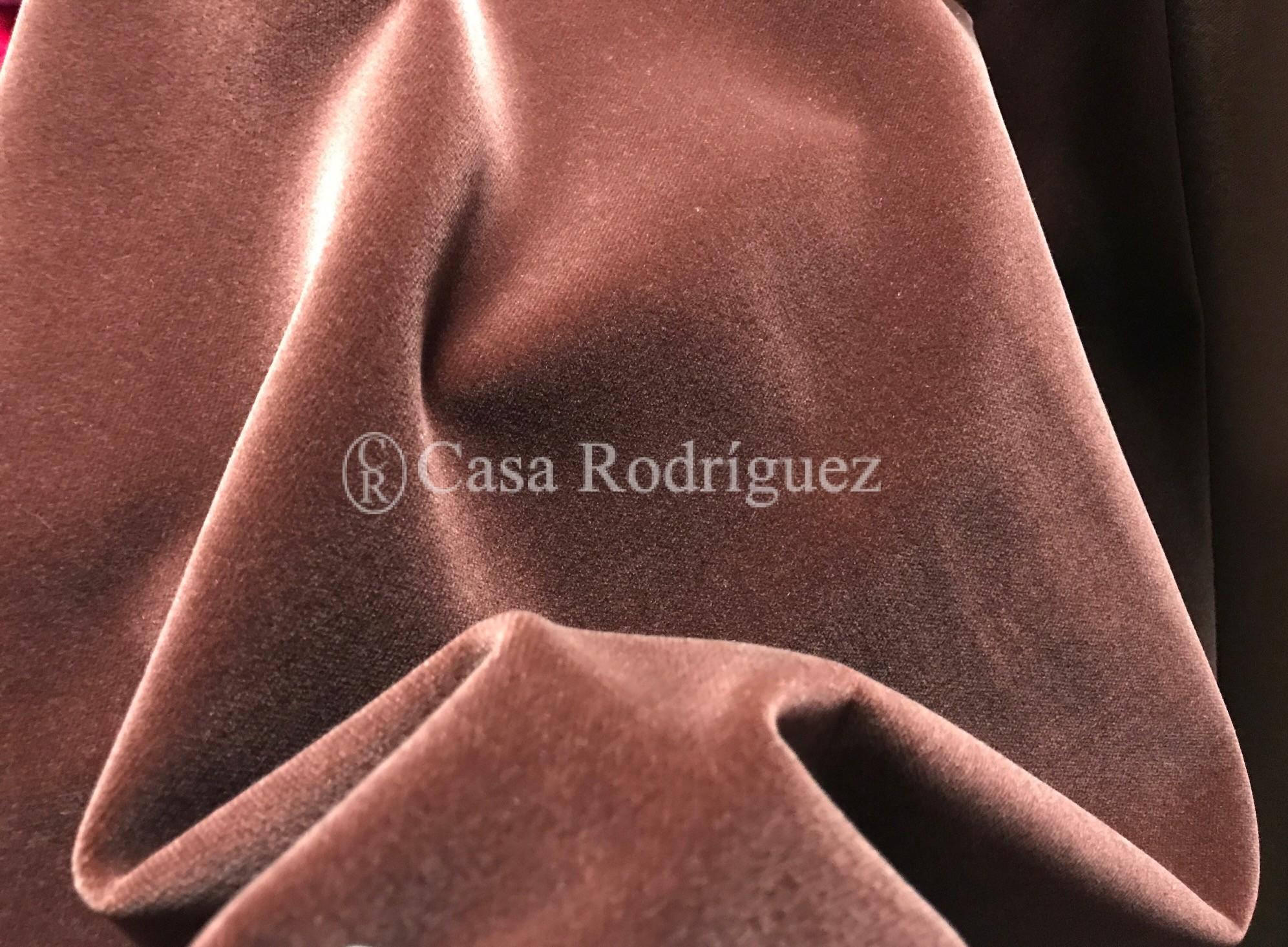 Terciopelo de algodón marrón