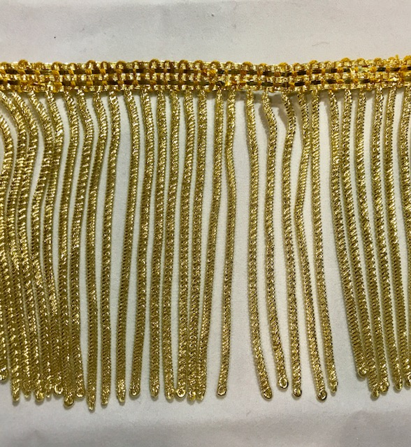 Fleco de canutillo en oro (10cms)
