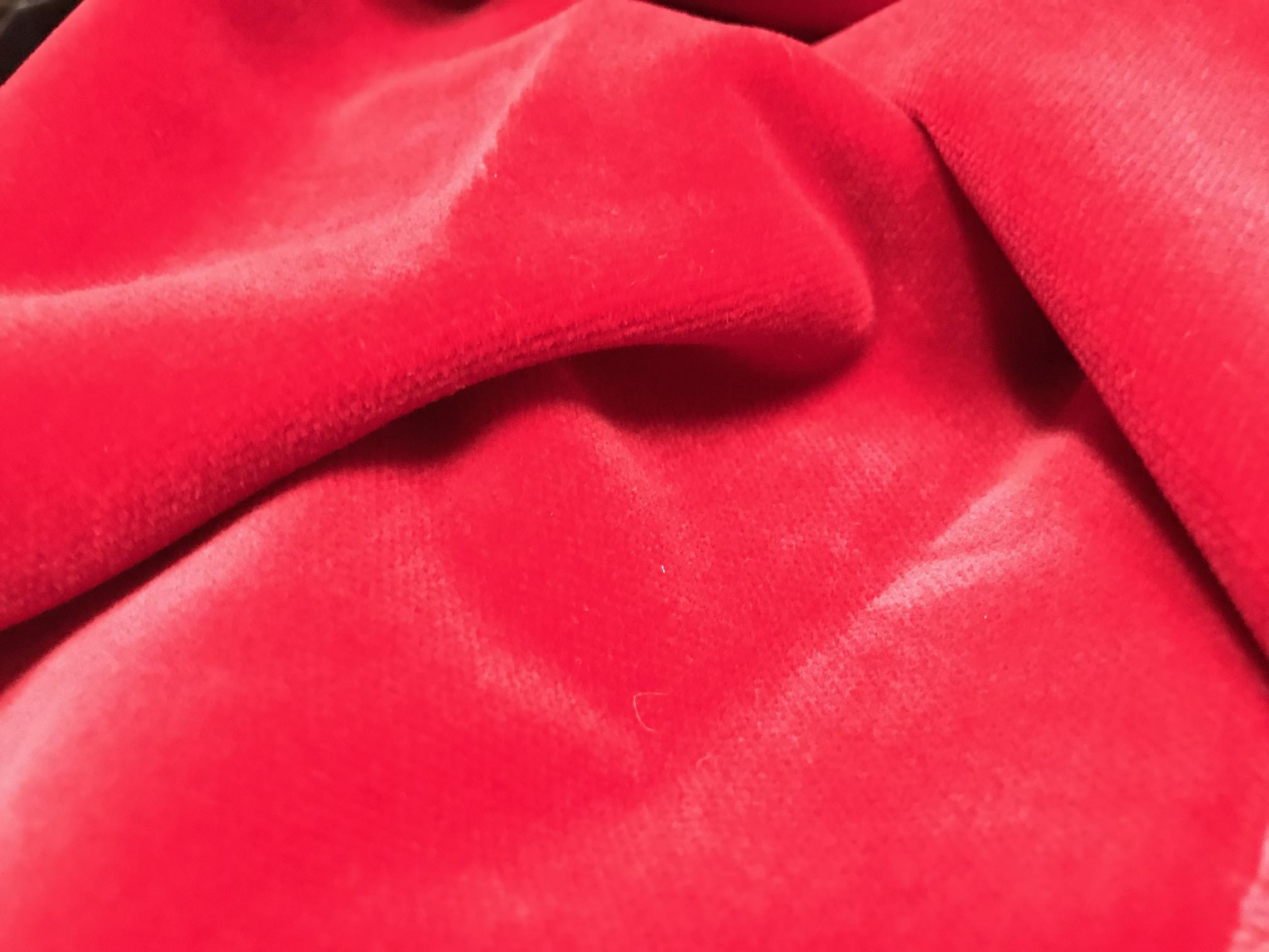 Terciopelo de algodón rojo