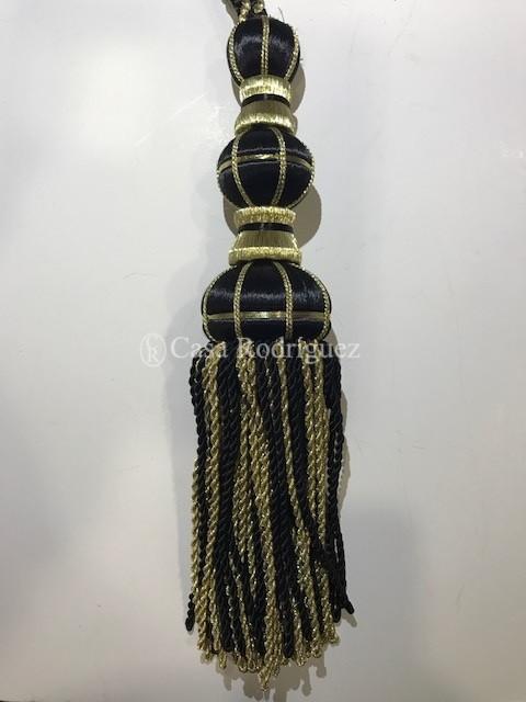 Borla dorada y negra (30cms)
