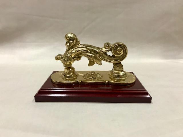 Llamador dorado (15cms x 10cms)