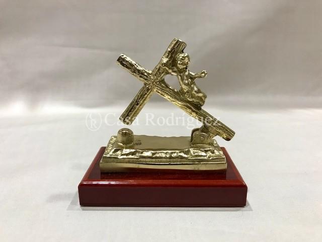 Llamador pequeño cruz y ángel (8cms x 8cms)