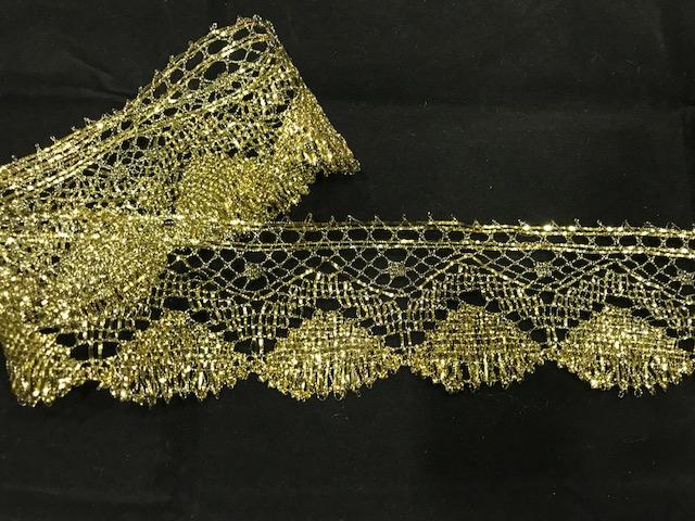 Encaje dorado envejecido (5cms)