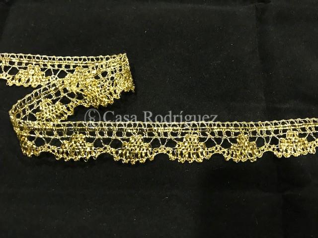 Encaje dorado estrecho (2,5cms)