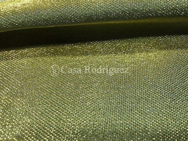 Tisú rejilla oro