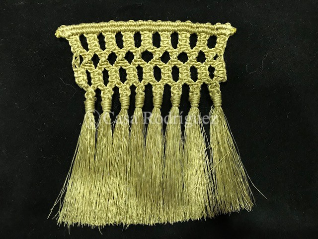 Fleco oro macramé (12cms)