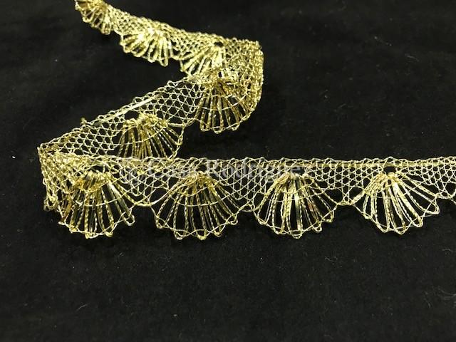 Encaje de oro entrefino (25 mm)