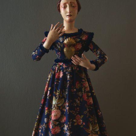 Virgen dolorosa para vestir craquelada