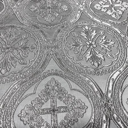Brocado plata Vaticano