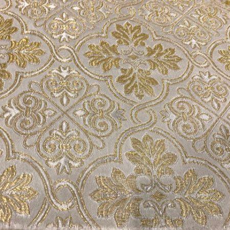 Brocado blanco y oro Basilea